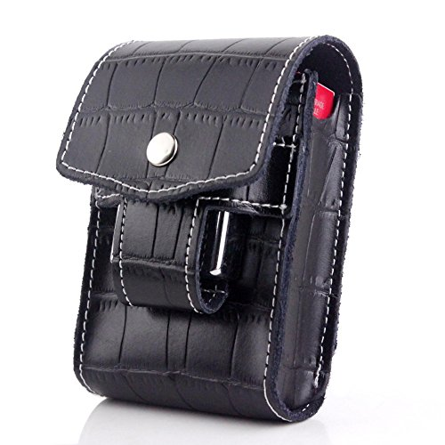 Unique Black Waist Cigarette Case With Lighter Holder For King Size&100's (Black) (Unique Cigarette Lighters)