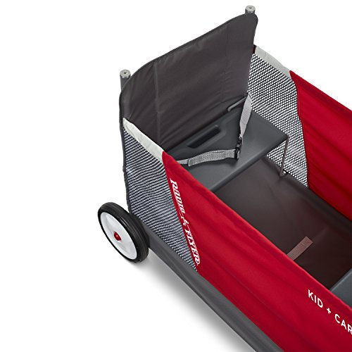 Radio Flyer Kid & Cargo with Canopy, Folding Wagon with 2 Versatile Seats, Red by Radio Flyer (Image #2)
