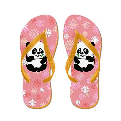 Cafepress Baby Panda Pink - Tongs, Sandales À Lanières Rigolotes, Sandales De Plage Orange