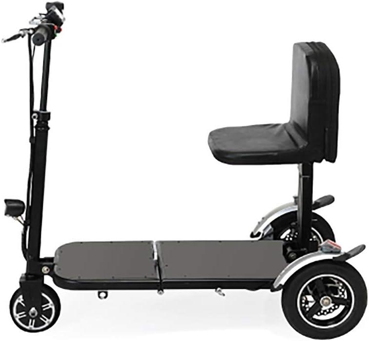 2020 Compacto Mini Plegable Eléctrico Triciclo, Triciclo Plegable Mini Electric Scooter Eléctrico Adultos Litio Portátil For Minusválidos De Edad Avanzada Batería De Coche Silla de ruedas asistida