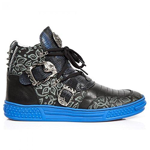 New Rock Boots M.ps049-s4 Gotico Hardrock Punk Unisex Sportschuhe Schwarz