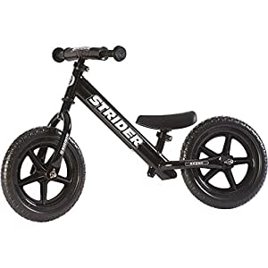 Strider - 12 Sport Balance Bike, Ages 18 Months to 5 Years, Black