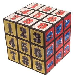 Letras y números de cubo mágico (cubo de Rubik)