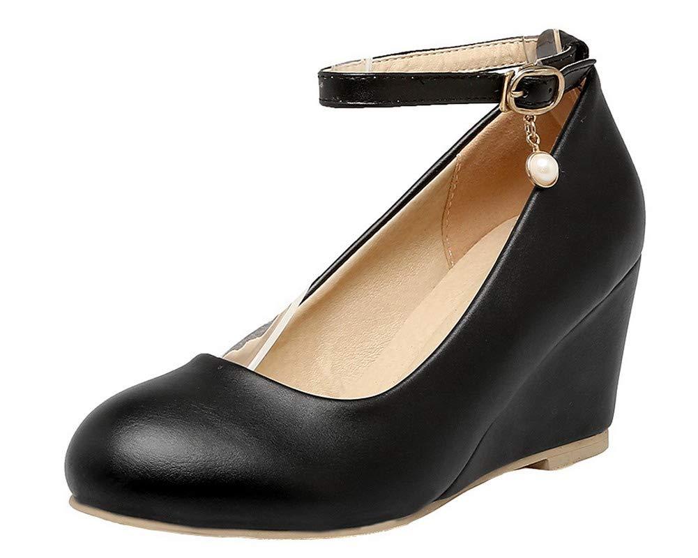 AalarDom Femme Chaussures 19967 Boucle à Talon Correct B07H3Q6J6B PU Cuir Couleur Unie Chaussures Légeres, TSFDH005673 Noir abe160c - shopssong.space