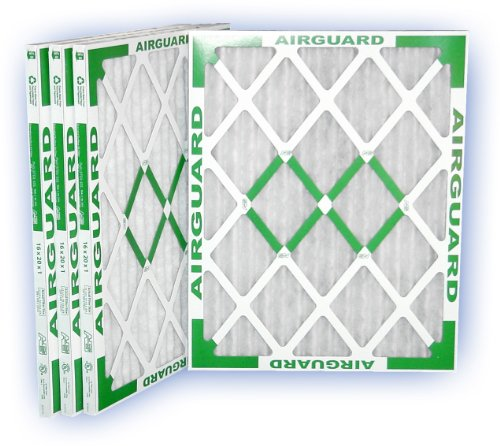 Pleated Airguard Filter Panel Air - 16 x 20 x 1 - PowerGuard Pleated Panel Filter - MERV 11 4-Pack