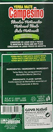 Goya Yerba Mate Campesino Hierba Natural - 5 Paquetes de 500 gr - Total: 2500 gr: Amazon.es: Alimentación y bebidas