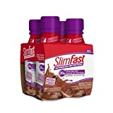 Slim Fast Advanced Nutrition, Meal Replacement Shake, 20g High Protein, Creamy Chocolate Ready To Drink, Gluten & Lactose Free, 4 Bottles x 325ml