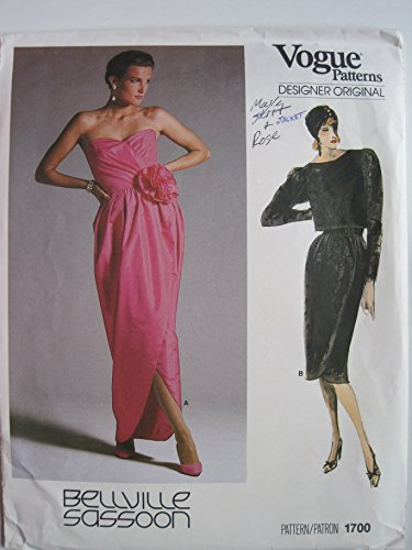 vogue-pattern-1700-bellville-sassoon-designer-original-misses-jacket-and-dress-size-6