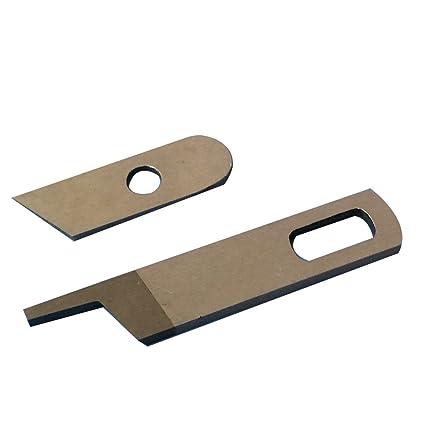 HONEYSEW Upper knife 412585 & Lower Knife 550449 For Singer 14CG754 Pfaff  4762 4772 Babylock Serger Machine