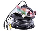 Vanxse Underwater Fish Camera Sony CCD 1000tvl Hd Underwater Video Camera 100m(330ft) Cable Fish Finder video camera (2pcs Array LEDs)