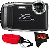 Fujifilm FinePix XP130 Digital Camera (International Version) No Warranty + Floating Strap + Fibercloth (Silver)