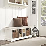 Crosley Brennan Entryway Storage Bench, White For Sale