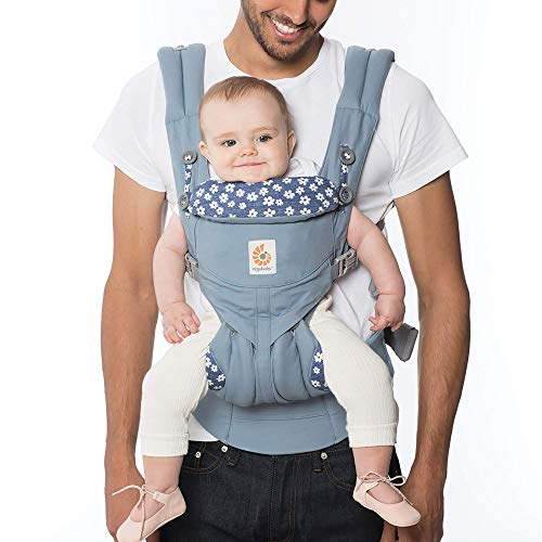 Ergobaby Carrier, Omni 360 All Carry Positions Baby Carrier, Blue Daisies