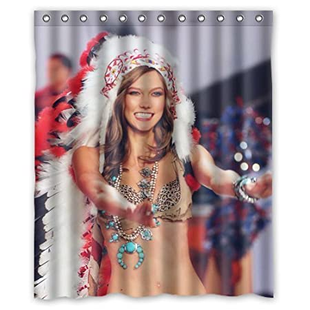 LOVELIFE Victoria Secret Karlie Kloss Model Sexy Custom Shower Curtain 66 Amazoncouk Kitchen Home