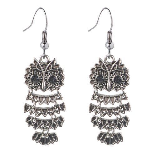 Grasslands Road Movable Owl Earrings Halloween Accessories]()