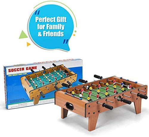 Juego de mesa de futbolín Costway, para niños de 70 cm, marco de ...