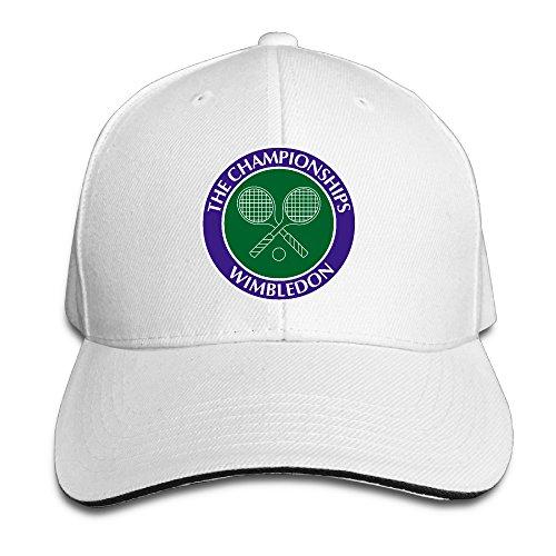 (HIITOOP Wimbledon Tennis Championships Baseball Cap Hip-Hop Style White)