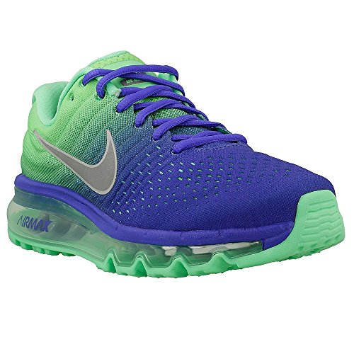 Nike Air Max 2017 Grade School (GS) Kids Running Shoes 5Y Blue/Green