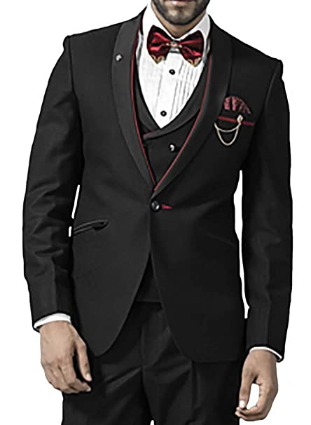 Amazon.com: INMONARCH para hombre negro 7 pc esmoquin traje ...
