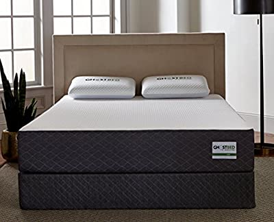 Ghostbed 11 Inch Cooling Gel Memory Foam Twin Mattress with 20 Year Warranty & 2 Real-Time Cooling GhostPillows