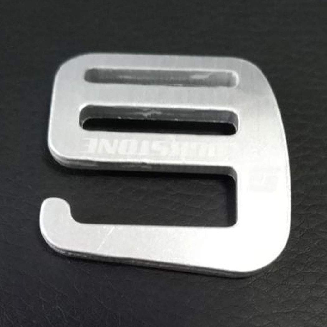 Myriad Choices 2pcs 1  Metall G Haken Schnalle Textil f/ür Riemen Rucksack 25mm Stoff Silber