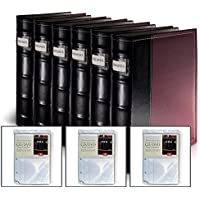 Burgundy DVD Organization Binders- 384 Disc Capacity (With 3 Extra Inserts)