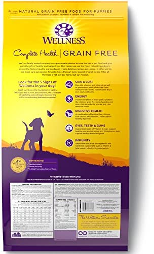 Wellness Complete Health Natural Grain Free Dry Dog Food Puppy Chicken Salmon