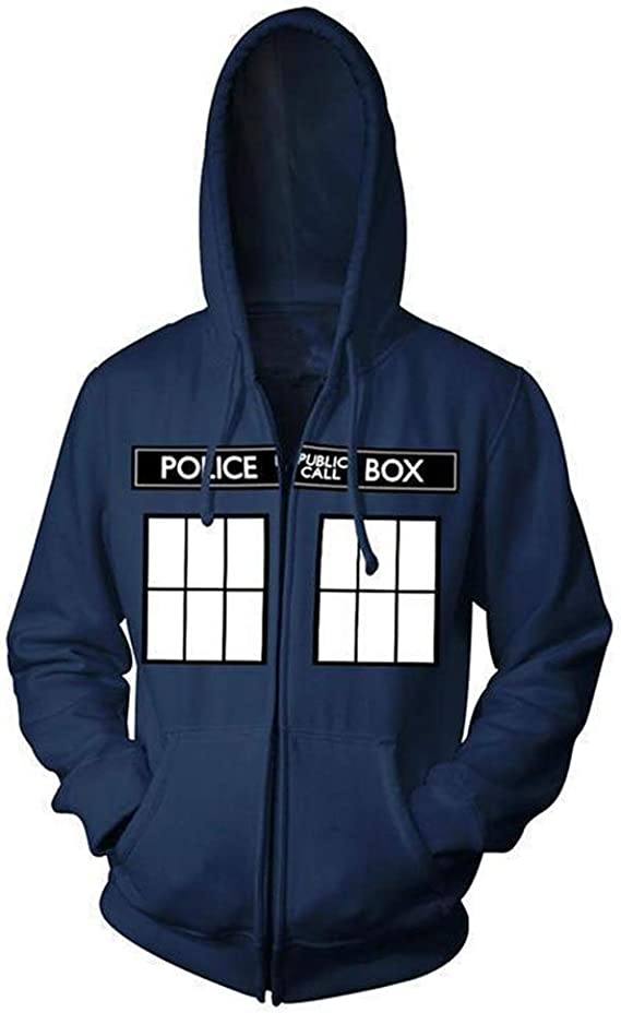 Doctor Who Sweat À Capuche Zip Up Sweat Inspiré