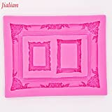 Star-Trade-Inc - Jialian mirror picture frame modelling 3D silicone mold cake decoration mold fondant mold