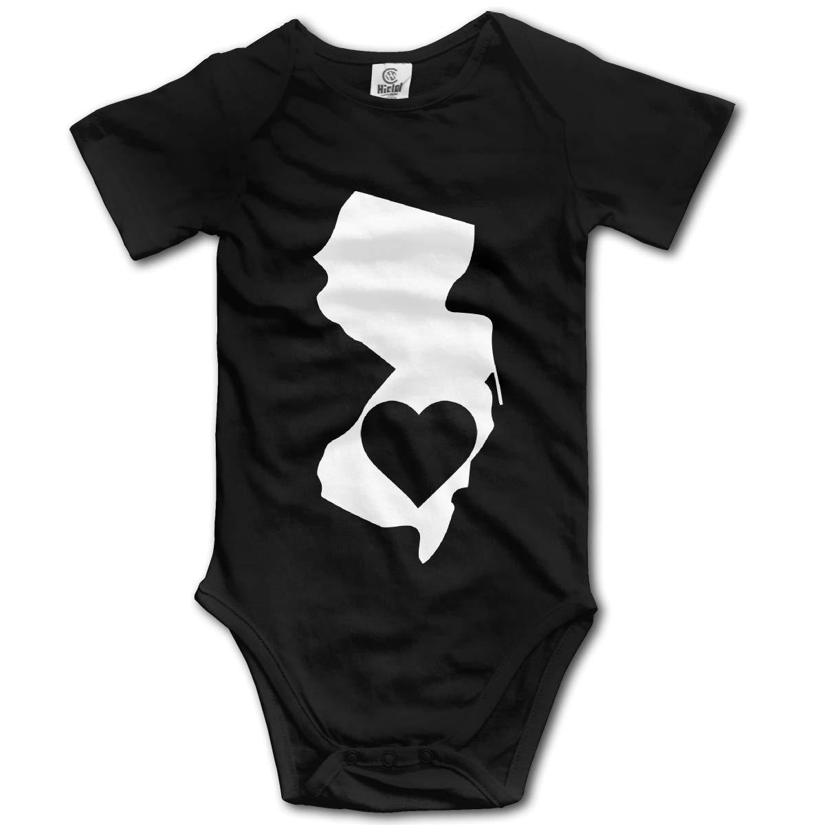 New Jersey Heart State Newborn Infant Baby 100/% Organic Cotton Layette Bodysuit 0-24 Months