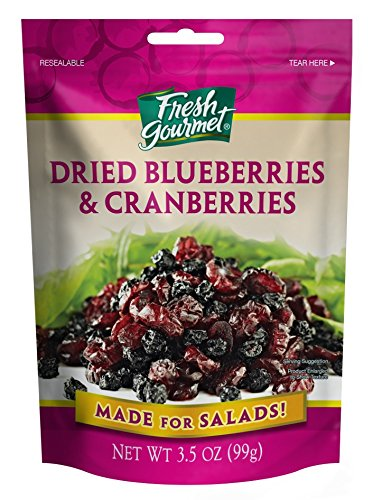 Fresh Gourmet Dried Bluberries & Cranberries, 3.5 Ounce