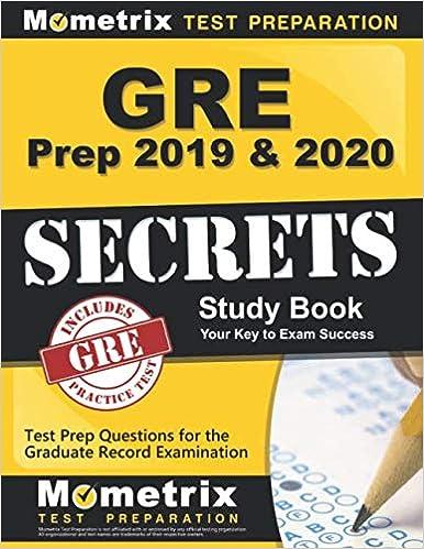 Best Gre Prep Book 2020.Gre Prep 2019 2020 Gre Secrets Study Book Test Prep