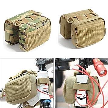 Frontier Bandolera bolsa paquete de silla bolsa de tubo de bastidor delantero de la bicicleta de