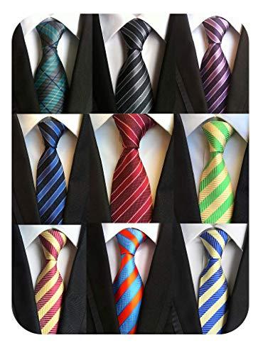 Welen Lot 9 PCS Classic Men's Tie Necktie Woven JACQUARD Neck Ties (Style 05)
