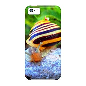 EnjoyTime Iphone 5c Hybrid Tpu Case Cover Silicon Bumper Simple Beauty Snail