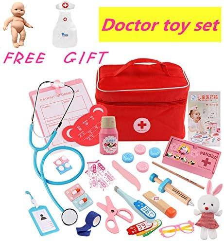 Doctor Kit, kit médico de veterinario para niños, incluye estetoscopio electrónico, gorro de laboratorio, equipo médico de Dr Pretend & Play para niños y niñas, juego de rol/regalos de vacaciones: Amazon.es: Hogar