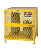 Little Giant GSU-36W-40H Yellow Steel Upright Gas Cylinder Storage Unit Locker, 40'' Overall Height, 38'' Overall Width, 38'' Overall Depth
