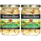 Christopher Ranch PICKLED GARLIC – Famous Award Winning Heirloom Garlic (8 Oz (Pack of 2))