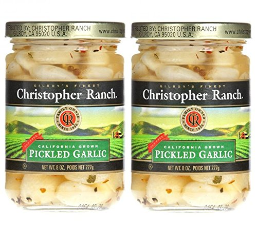 Cloves Of Garlic - Christopher Ranch PICKLED GARLIC – Famous Award Winning Heirloom Garlic (8 Oz (Pack of 2))