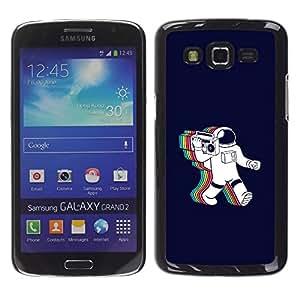EJOY---Cubierta de la caja de protección la piel dura para el / Samsung Galaxy Grand 2 / --Psychedelic Astronauta Radio Música