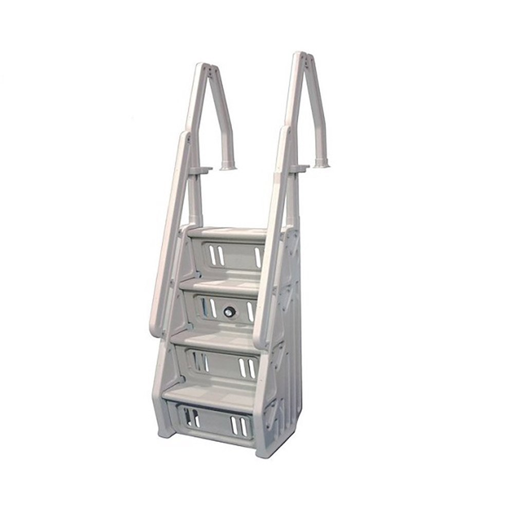 Amazon.com : Vinyl Works Deluxe Above Ground In-Pool Step Ladder ...