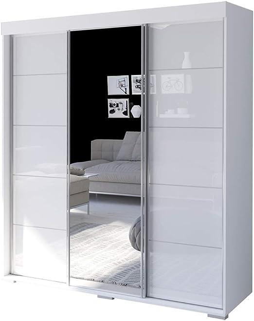 Amazon Com Aria 3 Door 71 Wide Modern High Gloss Wardrobe