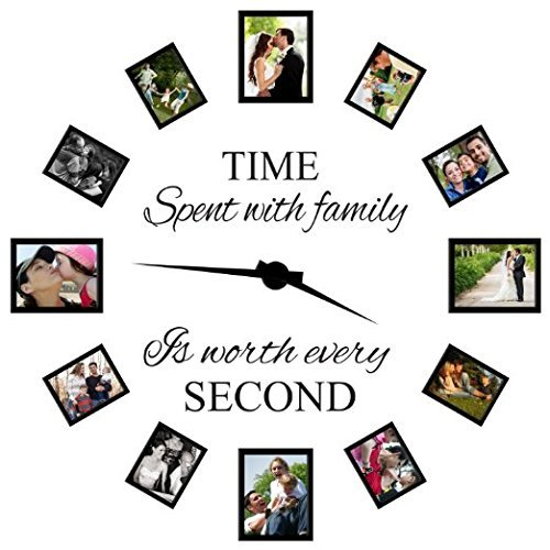 Family Wall Decals~Time Spent with Family Is Worth Every Second Wall Decal Quote Home Decor Art Quote Decals Wall Art Stickers Decal Home D¨¦cor