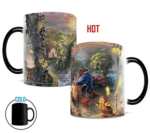 Thomas Kinkade's Beauty and The Beast Morphing Mugs