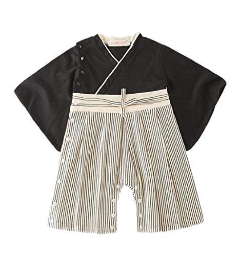 - Jaycargogo Baby Romper Kimono Robe Bow Tie Bodysuit Jumpsuit 7 18-24M