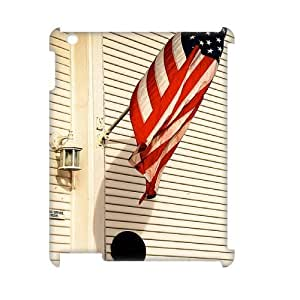 Personalized New Print Case for Ipad 2,3,4 3D, American Flag Phone Case - HL-R642914