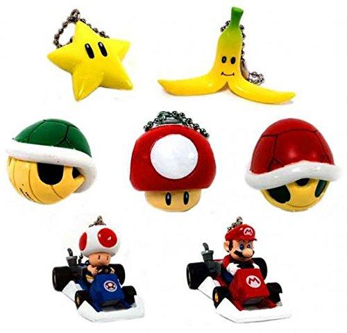 Mario Kart Keychain - Super Mario Kart DS Set of 7 Micro Keychains [Toy]
