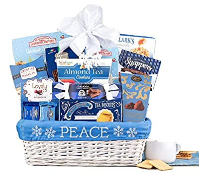 Wine Country Gift Baskets Peace Christmas Gift Basket. Loaded With Rocky Mountain Chocolate Factory. Perfect For Christmas Gifts, Family Gifts, Corporate Gifts, Celebration Gifts.