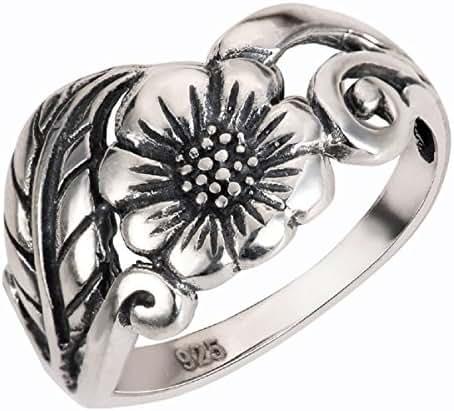 Karen's Flower Ring Sterling Silver 925 (Sizes 2-13)