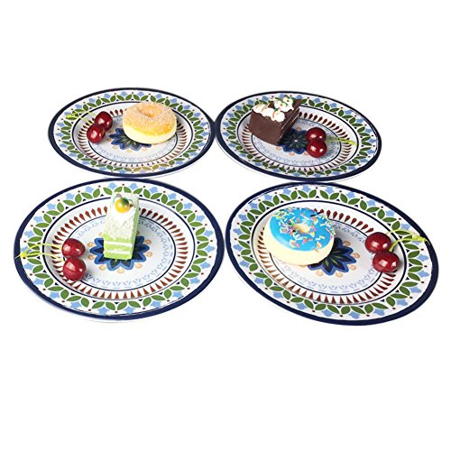 12 Pcs Melamine Dinnerware Set - Rustic Plates and bowls Set for Camping, Service for 4, Dishwasher Safe by Hware (Image #8)